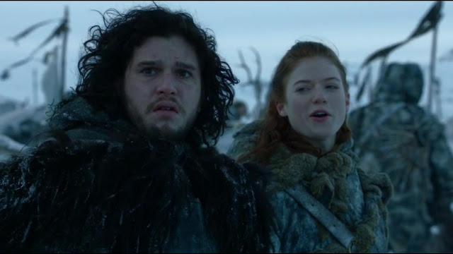 Ygritte and Jon outside the wall