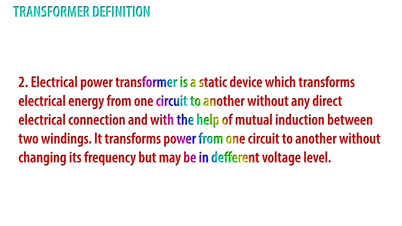 basic electrical engineering: define electrical transformer