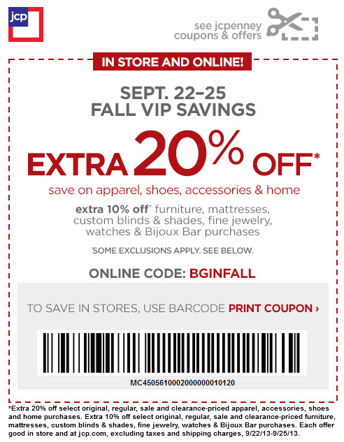 Jcp coupons 30 off 2018