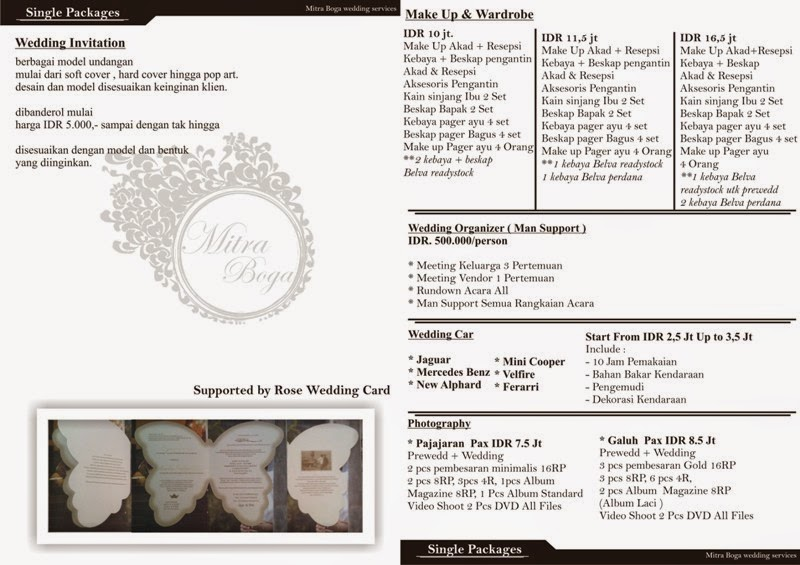 Mitra Boga Concepts Wedding Service And Organize Bandung