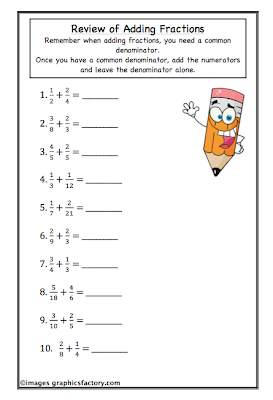... High School Math: Sneak Peek of my Fractions Workbook - NOW AVAILABLE