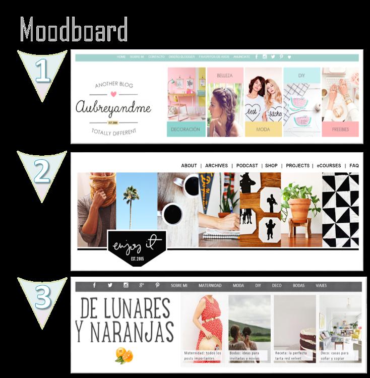 inspiración cabecera blog header diseño