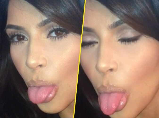 Kim Kardashian : it returns us to pull the tongue!