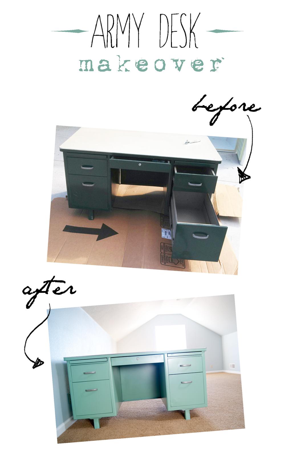 viyet designer furniture office statesman metalstand vintage.  Vintage Vintage Tanker Desk Makeover  Before And After In Viyet Designer Furniture Office Statesman Metalstand S