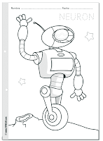 Colorea a Neuron - Robot