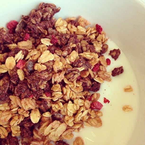 pauluns granola kakao och hallon inget tillsatt socker