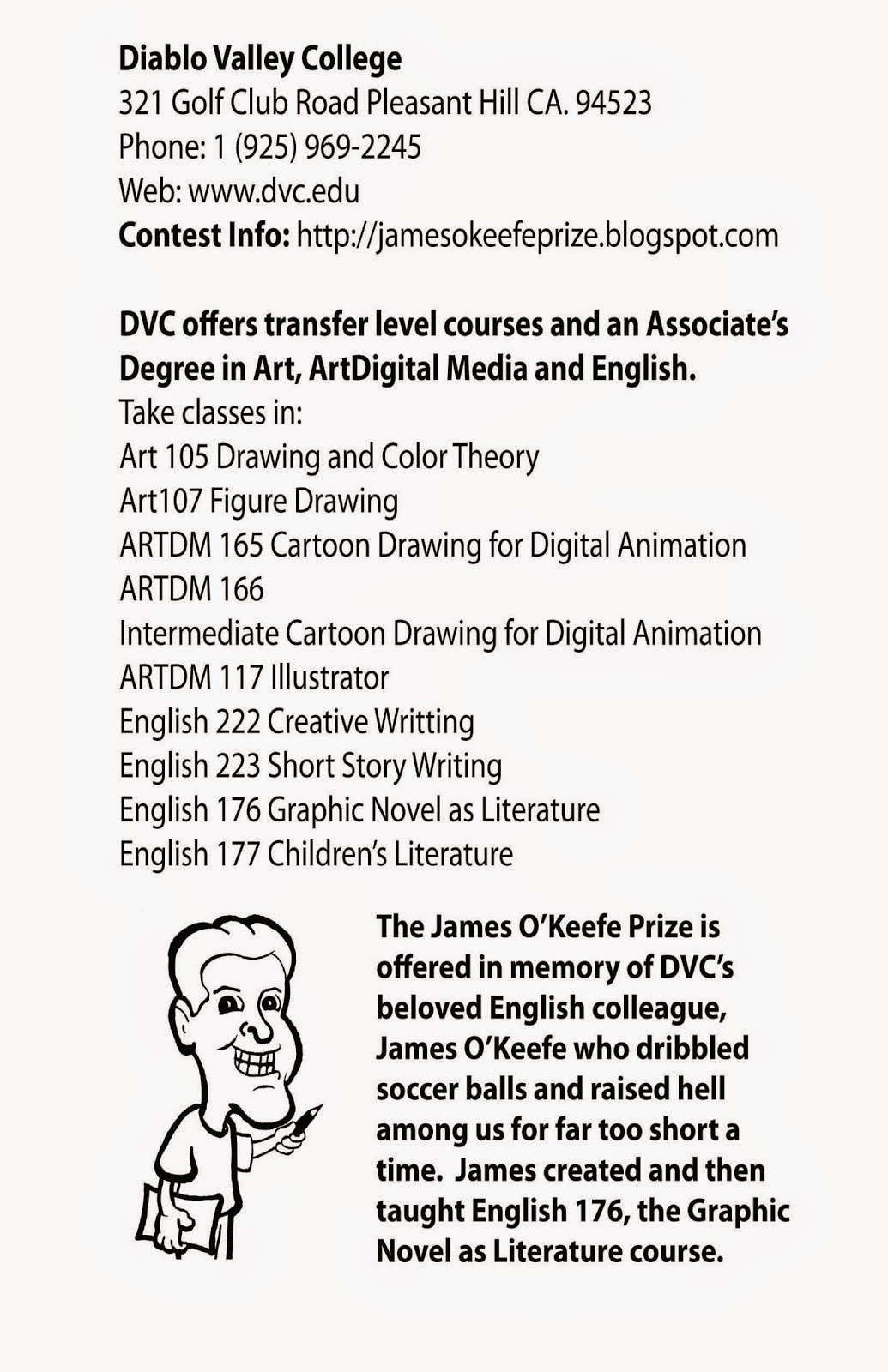 Cartooning, Illustration, Animation Classes