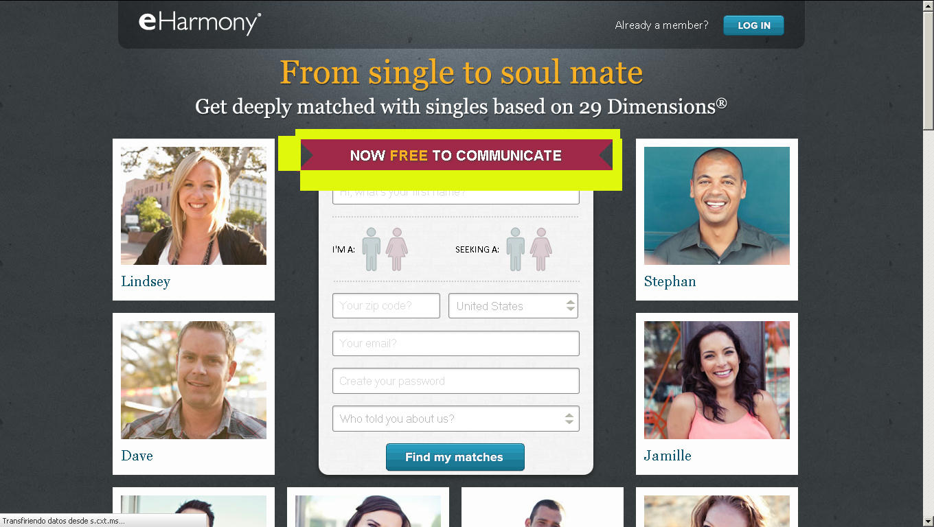 Free dating sites like eharmony