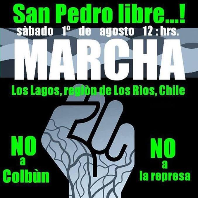 LOS LAGOS:MARCHA SAN PEDRO LIBRE