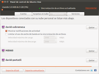 Compartir y sincronizar aplicaciones en Ubuntu One