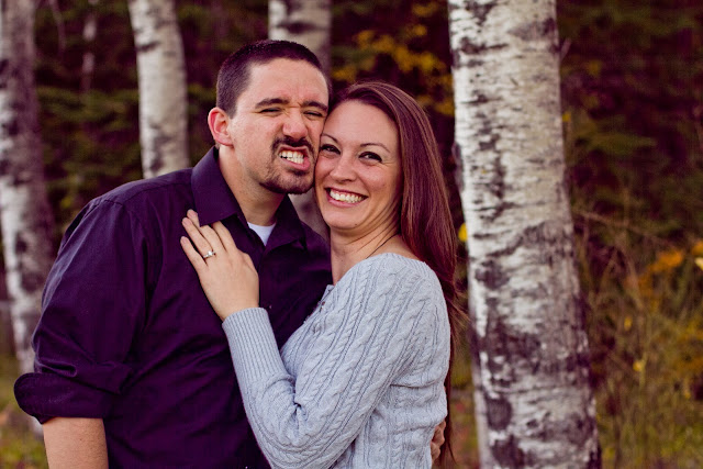 couple making a funny face