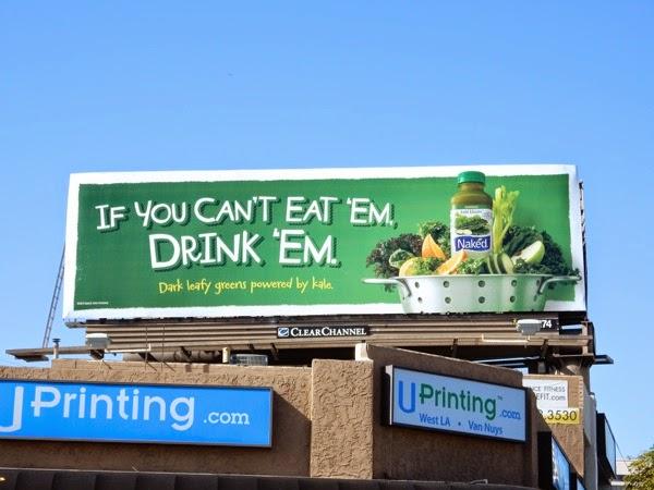 cant eat em drink em Naked Juice billboard