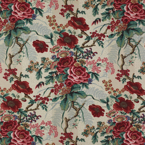Colefax And Fowler Leafberry Old Blue In Room