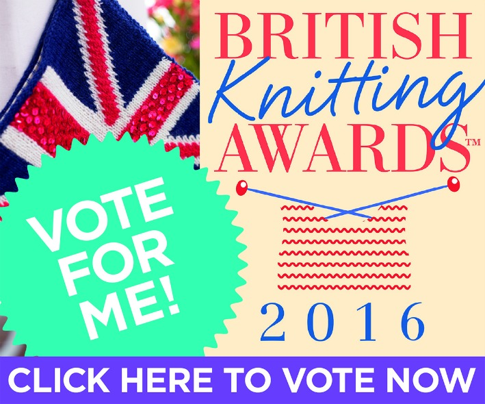 I'm thrilled to have been nominated for Favourite Book and Favourite Knitting blog!