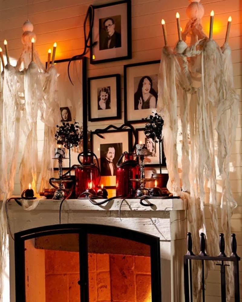7 façons d'habiller votre cheminée pour Halloween