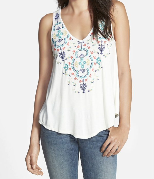Weekend Steals & Deals | Love on a Hanger Embroidered Tank