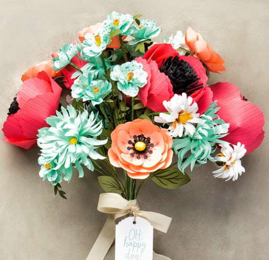Gorgeous paper flowers look like the real deal! #papercrafts #crafts #DIY #StampinUp