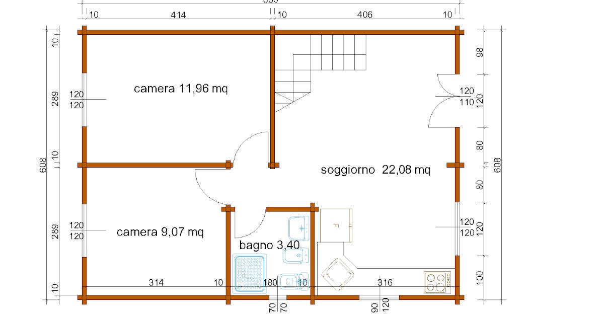 Progetti di case in legno casa a due piani 103 mq balcone for Casa a due piani con balcone