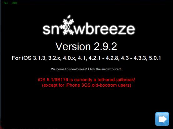 Download Sn0wbreeze 2.9.2 for windows screenshot