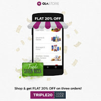 Ola Store : Sweets, Snacks & beverages 20% Off (For Bengaluru, Hyderabad and Gurgaon)