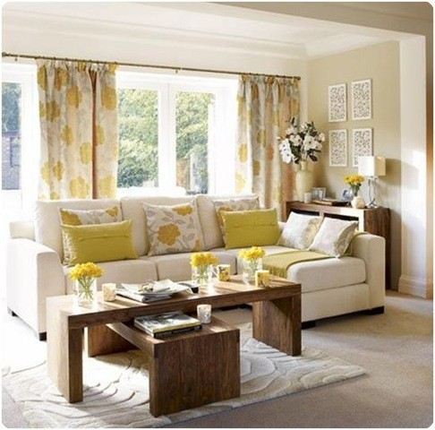 New home design ideas theme design yellow and gray for Yellow and grey living room ideas