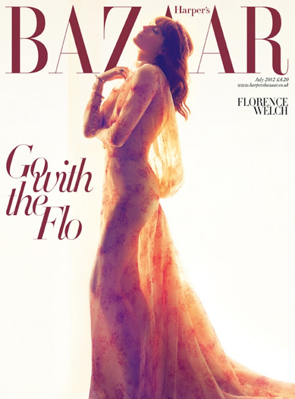 UK Harper's Bazaar July 2012 : Florence Welch by Camilla Akrans
