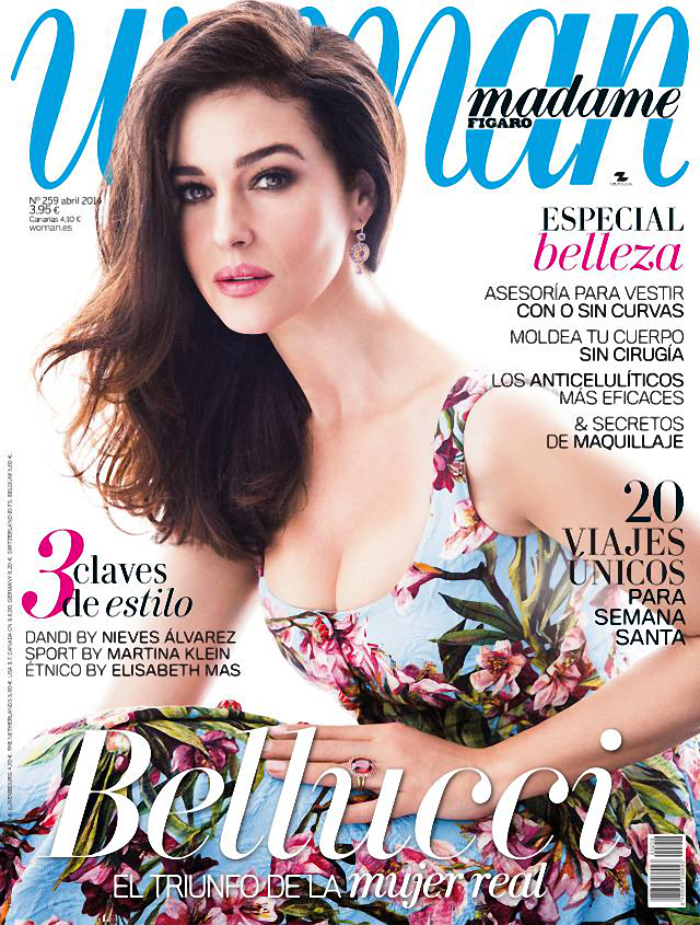 Monica Bellucci en portada de la revista Woman Madame Figaro abril 2014