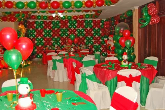 Christmas party decoration - Como decorar un salon para navidad ...
