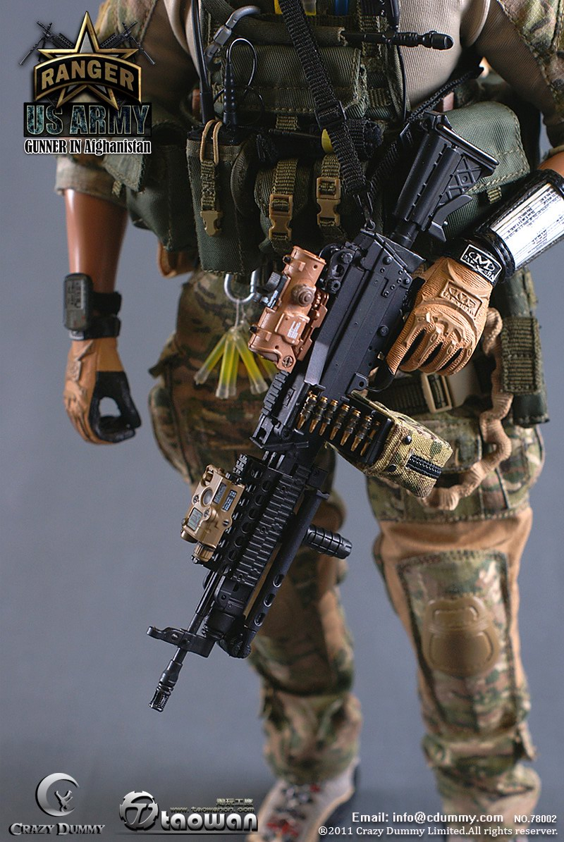 Toyhaven Crazydummy Us Army Ranger Gunner In Afghanistan Preview