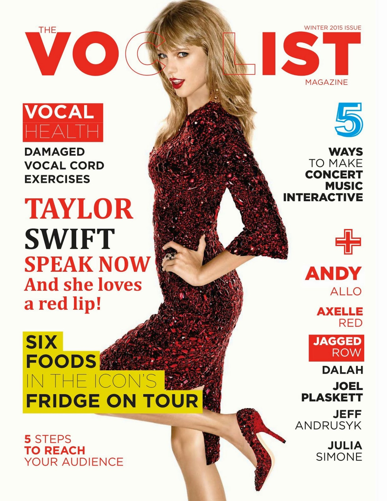 Singer-Songwriter, Actress, Fashion Model: Taylor Swift - The Vocalist Winter 2015 Issue