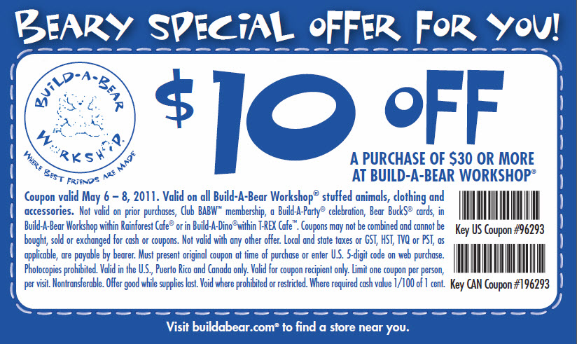 Build a bear coupon code