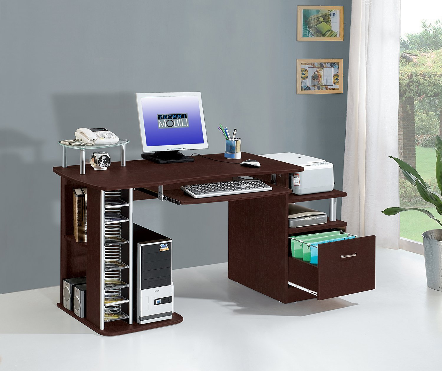 Top Rated Home Office Desk With File Drawer: Small But Storage Aplenty