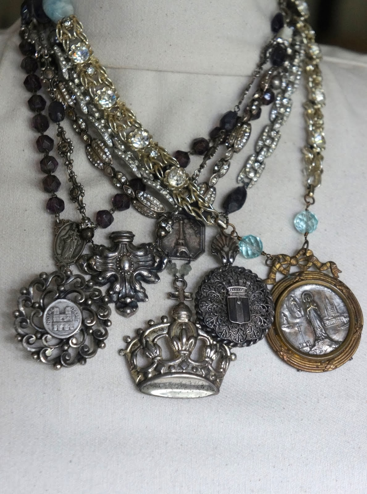 Vintage French Pendant Necklaces
