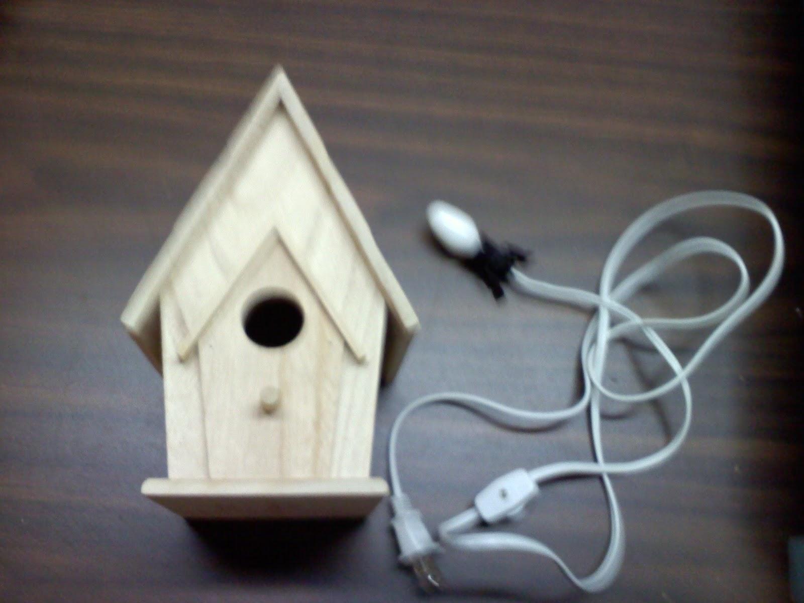 Tiptoethrough diy bird house night light - Birdhouse nightlight ...