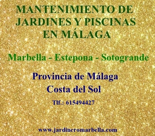 MANTENIMIENTO DE JARDINES Y PISCINAS MARBELLA