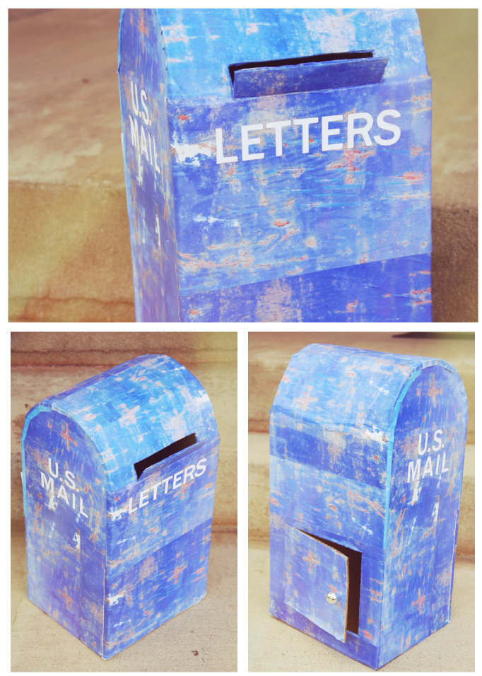 Kids cardboard mailbox tutorial for How to make a letterbox out of cardboard