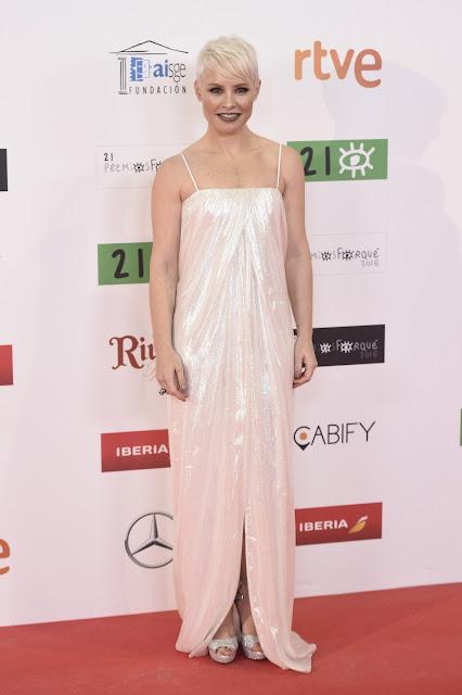 Soraya Arenales vestida de Paul Ka en los Premios Forqué, enero 2016