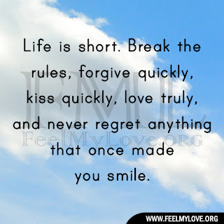 Life is short. Break the rules