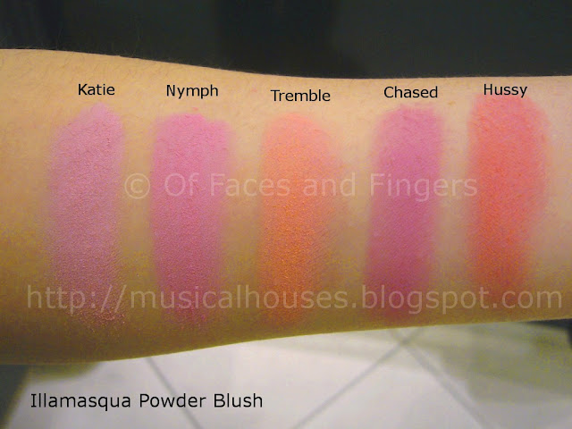 Illamasqua Powder Blusher Swatches