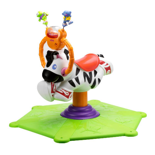 Toys for Rent:Fisher Price Bounce n Spin Zebra | Why buy when you can rent?