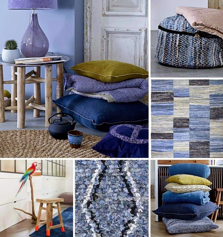 collage de inspiracion denim en deco