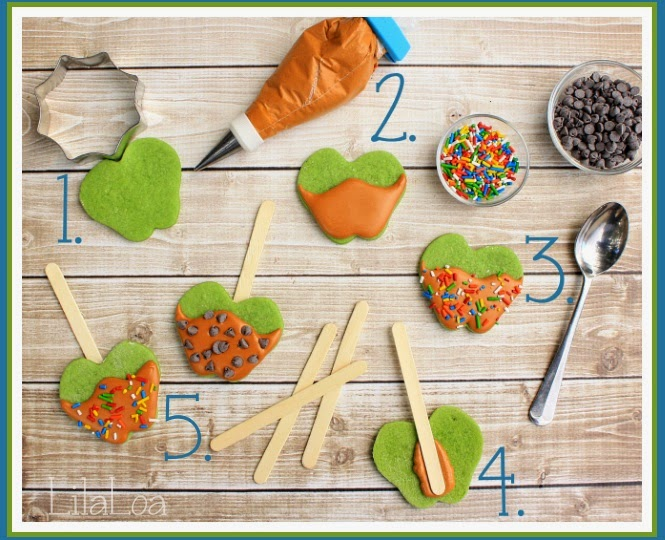 Caramel and Apple flavored cookies tutorial