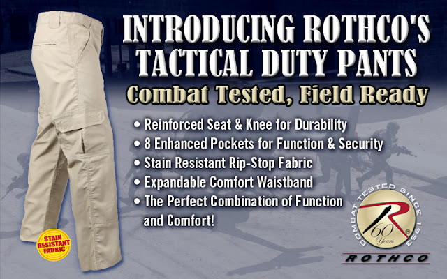 Khaki Tactical Duty Pants
