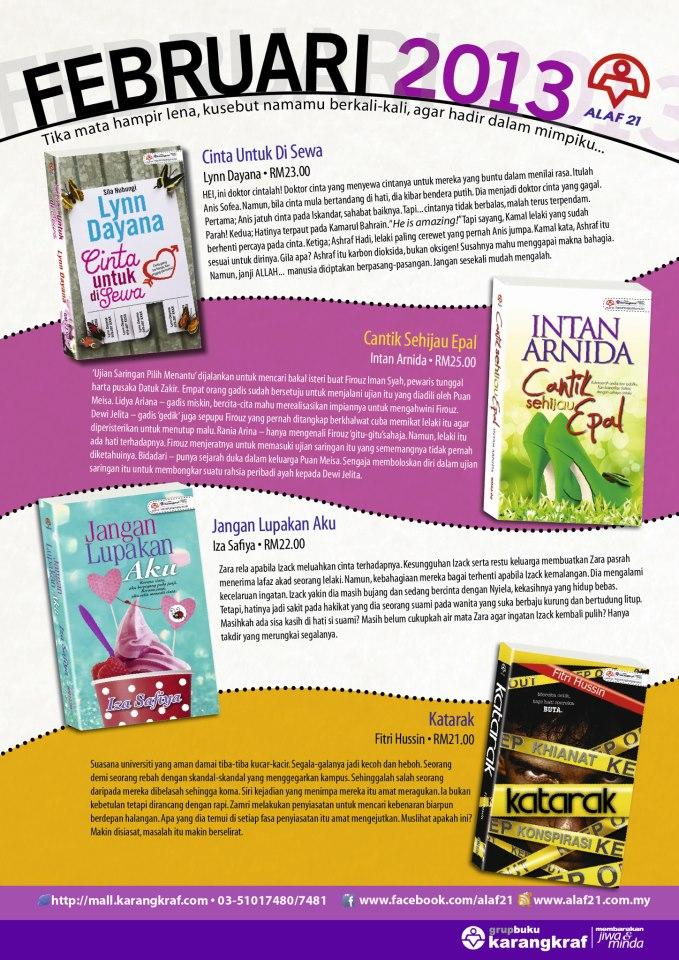 Novel-Novel Alaf 21 Untuk Terbitan Februari 2013