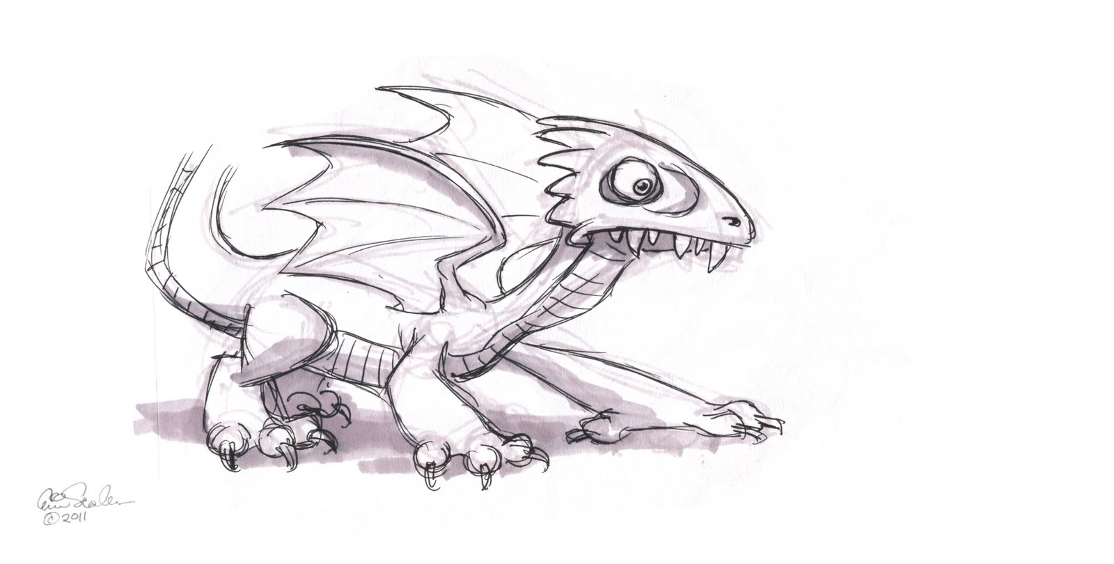 The ol 39 sketchbook little dragon for Small art drawings