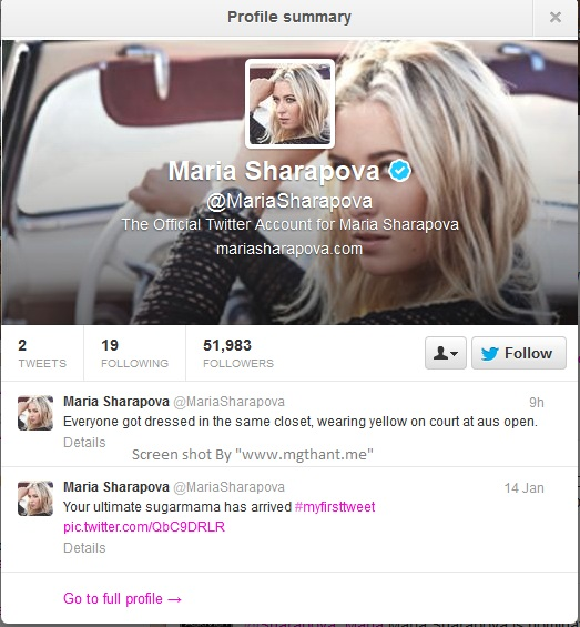 Maria-Sharapova-Twitter-Account