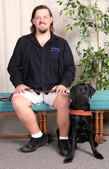 Jason with black Lab