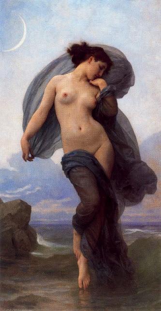 """""""Atardecer"""" de W. Bouguereau, poema del día, Carmen Conde, poesía en Alcalá de Henares"""