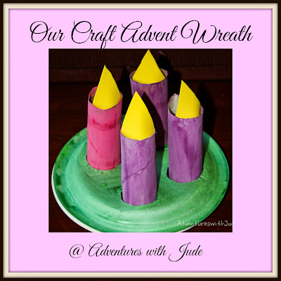 Upcycled Craft Advent Wreath