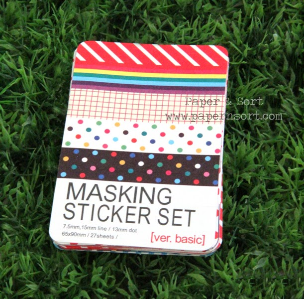 masking sticker tape set diy
